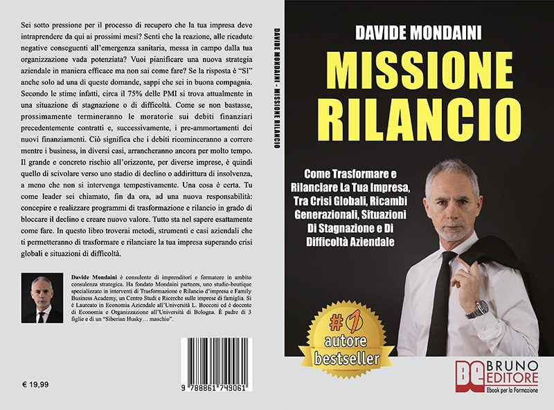 """Davide Mondaini: Bestseller """"Missione Rilancio"""",  il libro su come rilanciare un'impresa anche in tempi di crisi"""