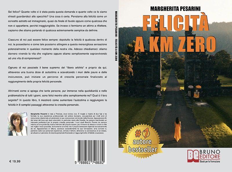 """Margherita Pesarini: """"Felicità A Km Zero"""" è Bestseller su Amazon"""