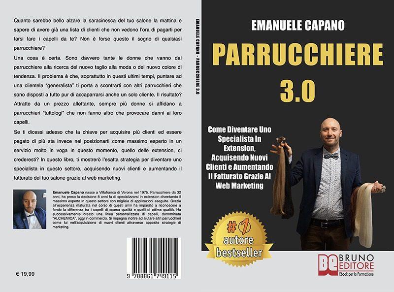 """Emanuele Capano: Bestseller """"Parrucchiere 3.0"""", il libro su come rilanciare il proprio salone"""