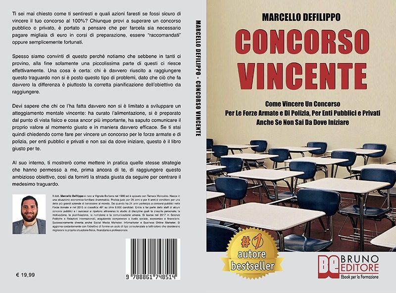 """Marcello Defilippo: """"Concorso Vincente"""" è Bestseller su Amazon"""
