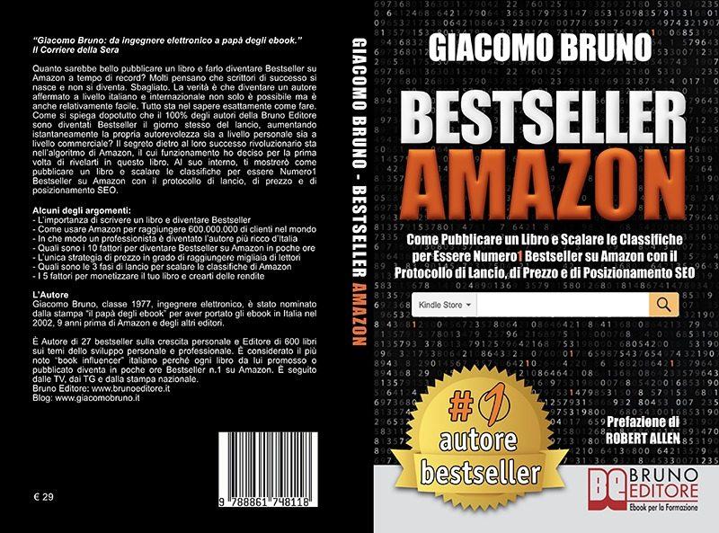 """Giacomo Bruno: """"Bestseller Amazon"""" è l'ebook italiano più scaricato nel Mondo"""