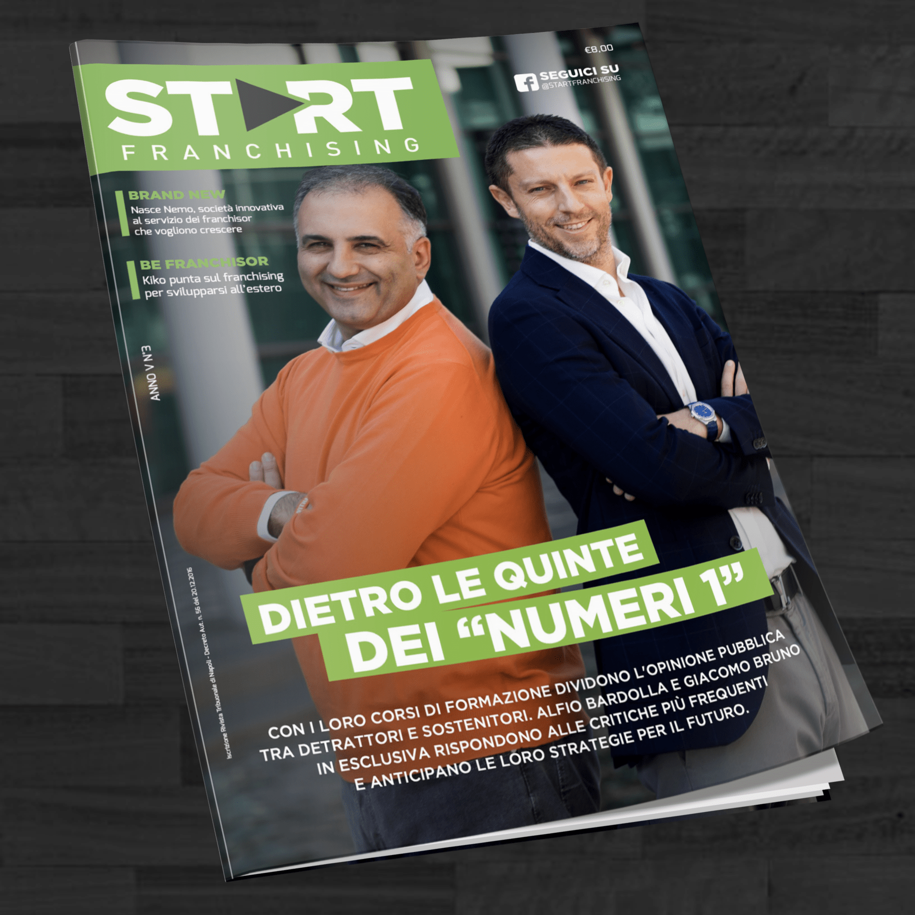Giacomo Bruno in copertina di Start Franchising