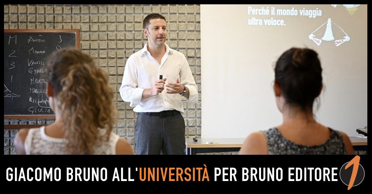 Giacomo Bruno all'Università con la case history di Bruno Editore