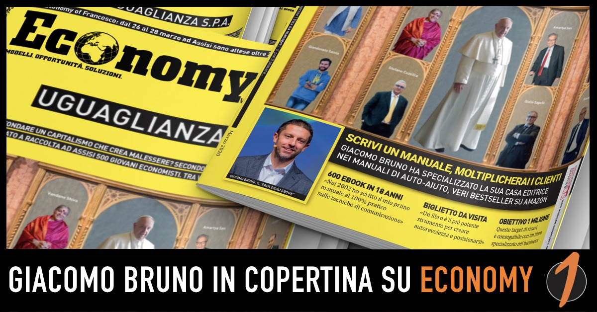 Giacomo Bruno in Copertina su Economy