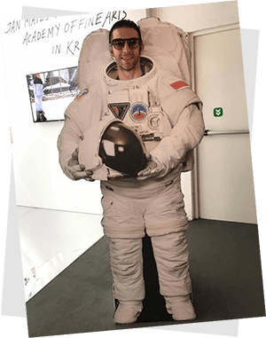 Giacomo nello spazio