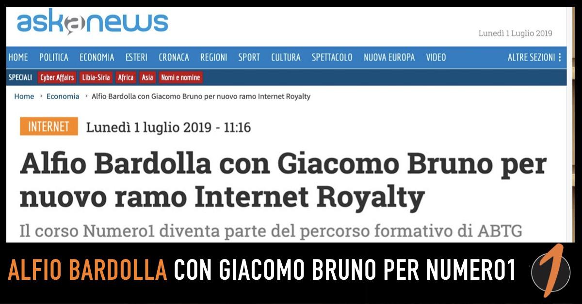 Giacomo Bruno e Alfio Bardolla lanciano il nuovo ramo Internet Royalty