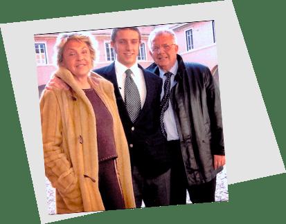 Giacomo Bruno e i suoi genitori